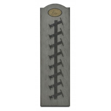 SMALL VERTICAL WINE WALL RACK 8 BOTTLES