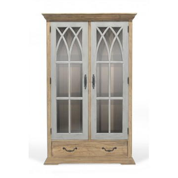 GOTHIC DISPLAY CABINET 2 DOOR 1 DRAWER
