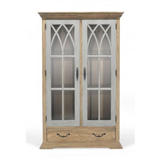 GOTHIC DISPLAY CABINET 2 DOOR 1 DRAWER