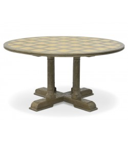 ROUND DINING TABLE WITH MARBLE TOP
