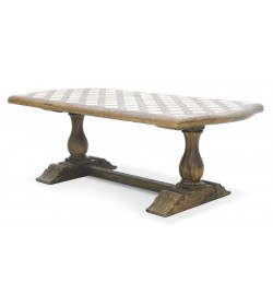 PYRENEES OBLONG DINING TABLE WITH LATTICE TOP