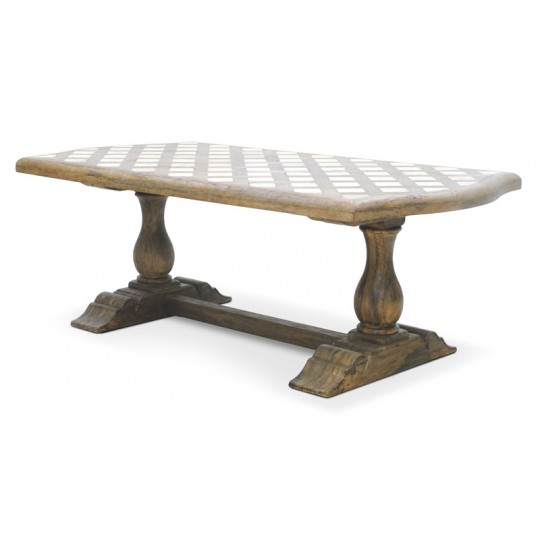 PYRENEES OBLONG DINING TABLE (SMOKEHOUSE)